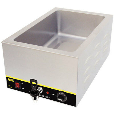 Buffalo Ge140 Bain Marie Style Food Warmer W/ Drain For Standard Steamtable Pans