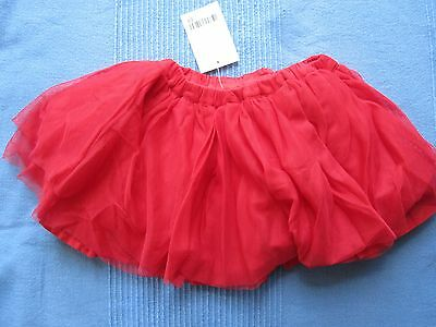 NEXT Baby Girls Red Tutu Skirt 0-3 months BNWT