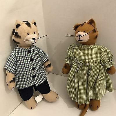 CY Designs Rag Kitties Patches And Percy Stuffed Animal Dolls