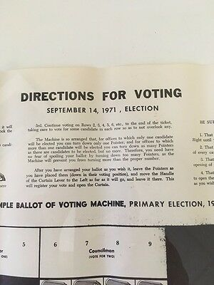 1971 Primary Election Ballot for Niagara Falls NY