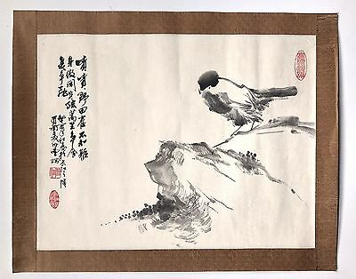 An Original Chinese Vintage Signed Scroll Painting