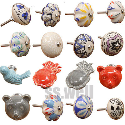 Vintage Ceramic Drawer Knob Pull Handles Drawer Door Cupboard Cabinet Knobs