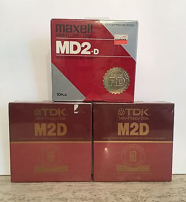 3 X 10 Pack Double Sided Double Density Mini Floppys 2 X TDK And 1 X Maxell = 30