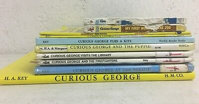 Lot of 10 Curious George Books Children's Book Monkey