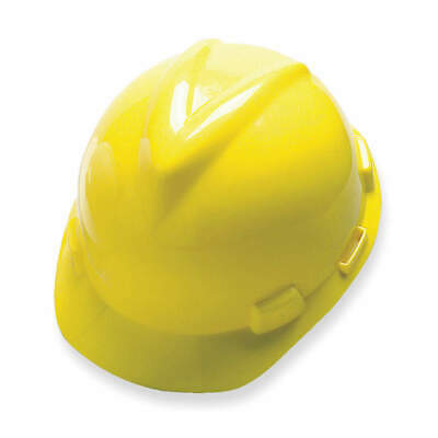 MSA Hard Hat,C, E,Yellow,4 pt. Ratchet, 477484, Yellow