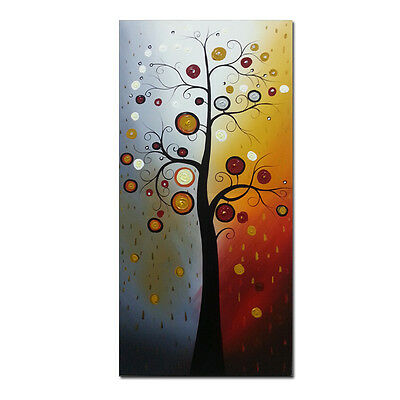Original Hand Paint Canvas Oil Painting Wall Art Home Decor Flower Tree Framed