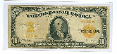 1922 $10 Large Size Gold Certificate Rarer Small Serial Number