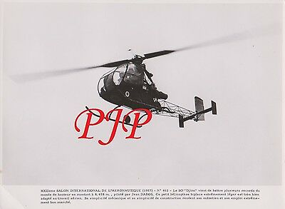 Avion - Aircraft - Photographie - FRANCE - 1957 - Helicoptère Le SO Djin  - 240X