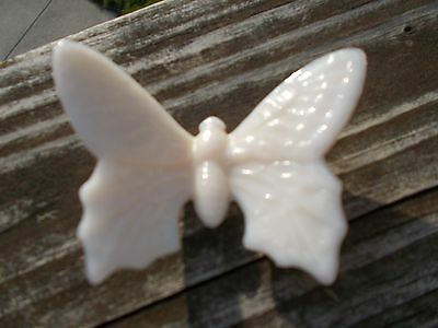 Westmoreland Glass Shiny Finish White Colored Butterfly Figurine