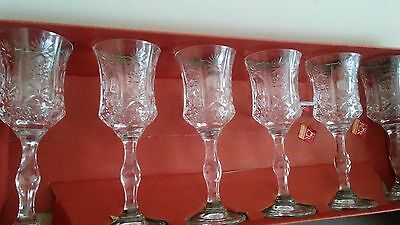 Vintage Fine Crystal Calici Liquore Cordials Set Of 6