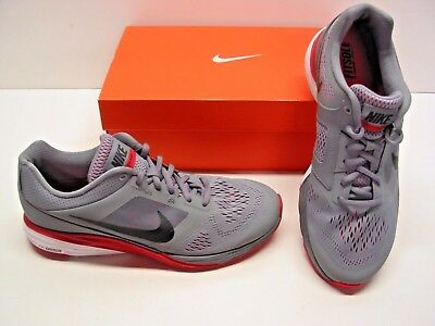 531f62584c1 Nike Tri Fusion Run Running Trainer Gray Red Athletic Sneakers Shoes Mens  8.5
