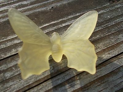 Westmoreland Glass Satin Finish Yellow Colored Butterfly Figurine
