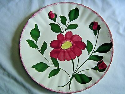 Blue Ridge Southern Potteries Dinner Plate Red Nocturne Hand Painted
