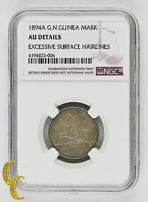 1894 A German New Guinea Mark, NGC AU Details, 1M, known to exist 33,000! KM# 5