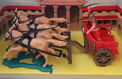 Timpo Toy S0Ldiers Roman Chariot Boxed 1800