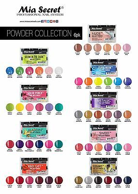 5045bece27c2 Mia Secret Assorted Acrylic Nail Powder Collection Set Metallic Nude Red  Pastels
