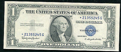1935-H $1 One Dollar *star* Silver Certificate Gem Uncirculated