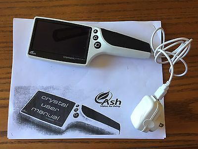 "Ash Crystal XL Handheld Portable Magnifier 4.3"" AMOLED Screen Rechargable"