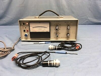 FW Bell 620 Gaussmeter With Two Probes SAG4-1802 & STG4-0402 TESTED