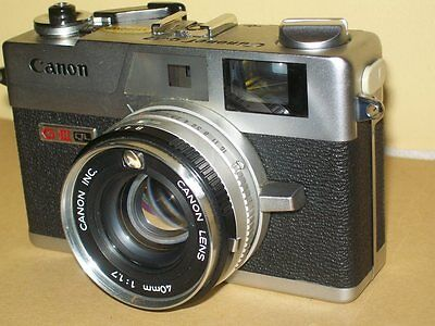 CANONET GIII QL17 Shutter and Meter works NEW SEALS