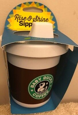 Starbucks Like Sippy Cup Baby Ducks Coffee Baby Toddler Rise & Shine BPA Free