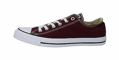 Converse Shoes Chuck Taylor Ox All Star Low Top Canvas Mens Sneakers- Burgundy