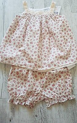 BNWT baby girls Ralph Lauren 2 piece outfit dress RRP£90 12-18 months summer