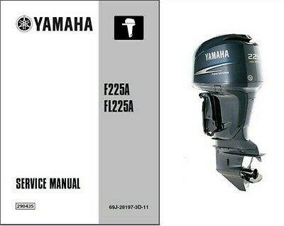 Yamaha F225 FL225 4-Stroke Outboard Motor Service Repair Workshop Manual CD  225