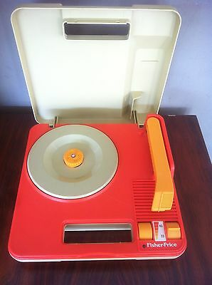 FISHER PRICE 820 handable record player turntable portable platine vinyles 1983