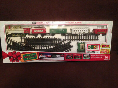 Santa's Musical Express Train Set in Box New Bright Electronic Christmas Music