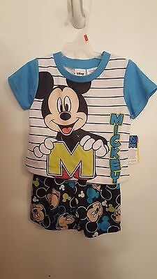 Disney Mickey Mouse 2pc Sleep Set ~ 2t ~ Brand New With Tags