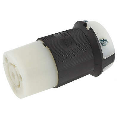 HUBBELL WIRING DEVICE-KELLE Nylon Connector,277VAC,20A,L7-20R,2P,3W,1PH, HBL2333
