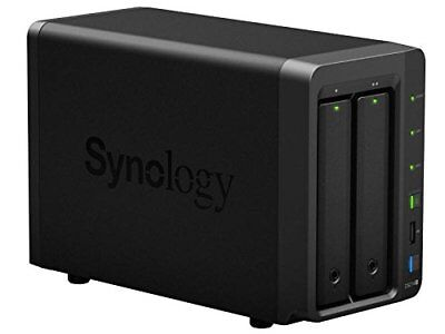 New Synology DS214+ NAS 2 Bay Diskless SATA USB 3.0 Disk Station w/issue