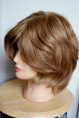 Beautiful 100% human hair mono full lace wig in light golden brown ex-display