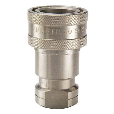"PARKER Quick Connect,Socket,1/8"",1/8""-27, SH1-62"