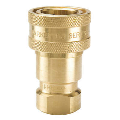 PARKER Coupler Body,1/4-18,1/4 In. Body,Brass, BH2-60