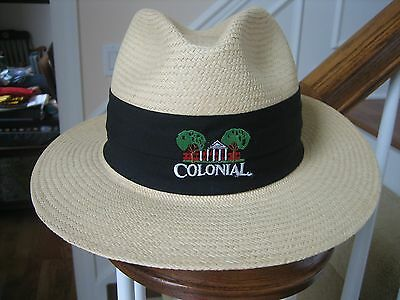 Colonial Country Club Vintage Straw Hat Unihat By Texace Made In Usa Beige  Nice ecee2d75161