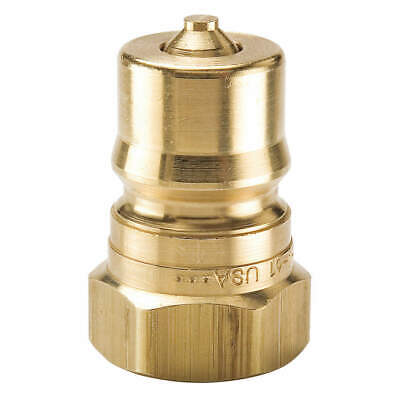 PARKER Coupler Nipple,1-11-1/2,1 In. Body,Brass, BH8-61