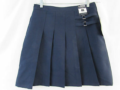Girls French Toast 2 Tab Pleated Scooter Size 18 Hidden Short Polyester Navy