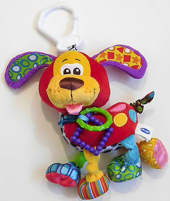 PLAY GRO Soft Colorful POOKY plush PUPPY Activity Baby Developmental Toy NEW