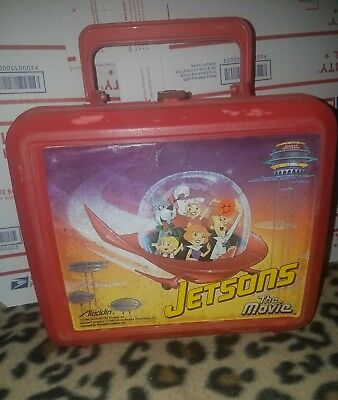 Jetsons the Movie VINTAGE Red Plastic Lunch Box 1990 Hanna-Barbera NO THERMOS