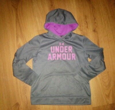Girl's Under Armour Hoodie Gray Purple/Pink YMD Size Medium M