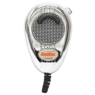 ROADKING CB Mic Chrome,Noise Cancelling,4 Pin, RK564PCH