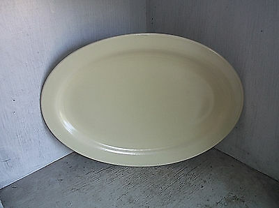"Vernon Kilns MODERN CALIFORNIA Light Yellow Platter 12 1/2"" California Pottery"