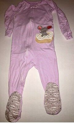 Carter's Lightweight Pajamas Pj's Mouse With Donut Size 3T