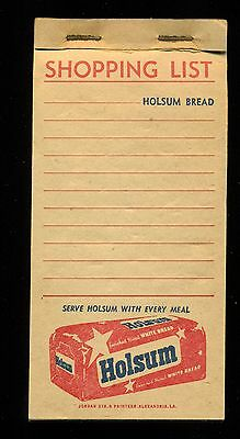 1950s Thick HOLSUM BREAD Shopping List note pad