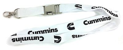 Dodge Cummins Lanyard - White - With detachable clasp + key ring. NEW!!!