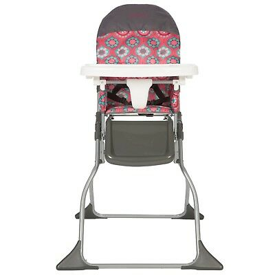 Folding High Chair Baby Toddler Tray Simple Fold Infant Girl Highchair Compact