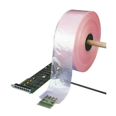"""GRAINGER APPROVED Poly Tubing,AntiStatic,LDPE,Open,4"""", 5CYJ0, Pink"""
