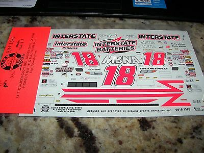 1999 iNTERSTATE BATTERIES Bobby Labonte #18 - NASCAR Decals Slixx #1385